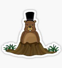 Groundhog day - Cartoon style Sticker