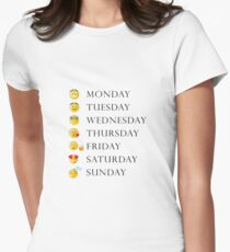 Weekdays Emoji Womens Fitted T-Shirt