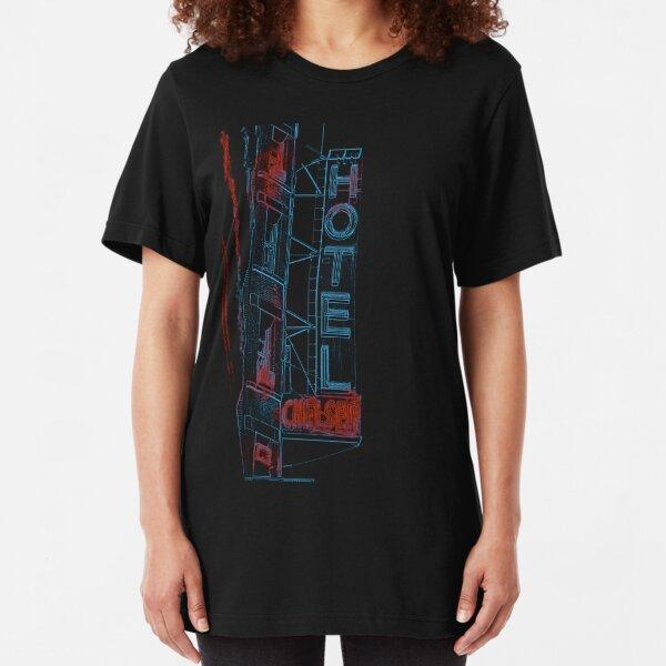 Chelsea Hotel NY Design Slim Fit T-Shirt