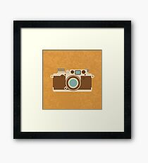 Retro 35mm Camera Framed Print