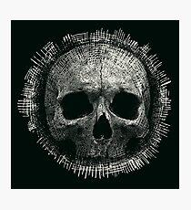 Pencil drawn skull art Photographic Print