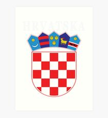 Croatia Hrvatska Deluxe National Jersey Art Print