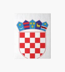Croatia Hrvatska Deluxe National Jersey Art Board