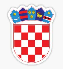Croatia Hrvatska Original Coat of Arms Design Sticker