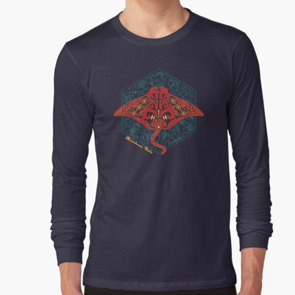 Hawaiian Manta Ray Ocean Design Long Sleeve T-Shirt