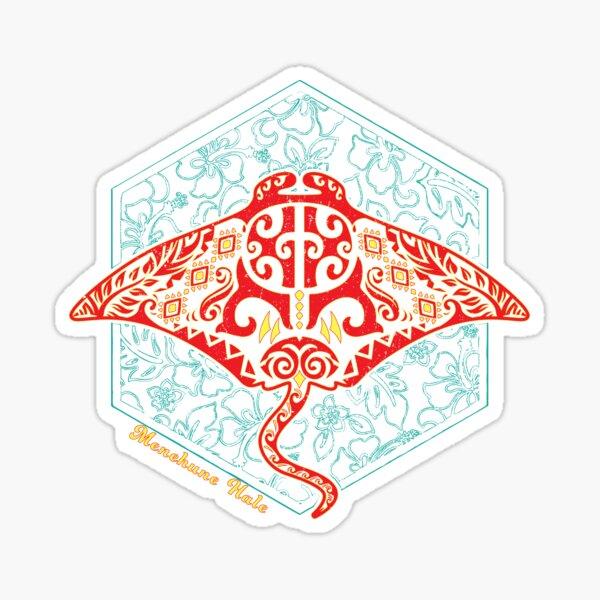 Hawaiian Manta Ray Ocean Design Sticker