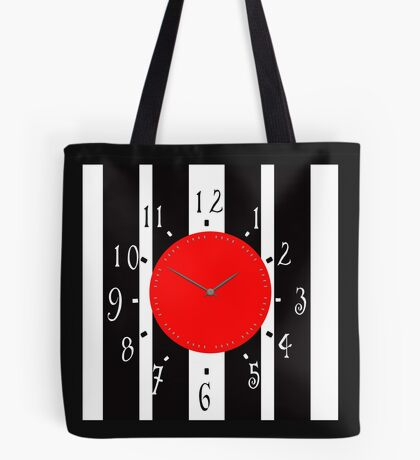Black and White Clock  Tote Bag