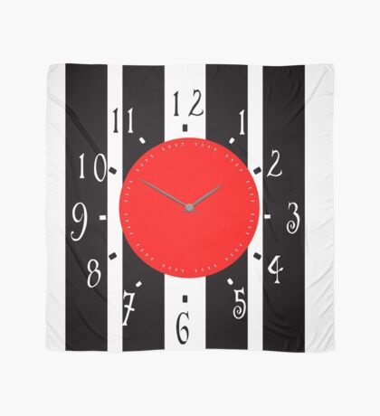 Black and White Clock  Scarf