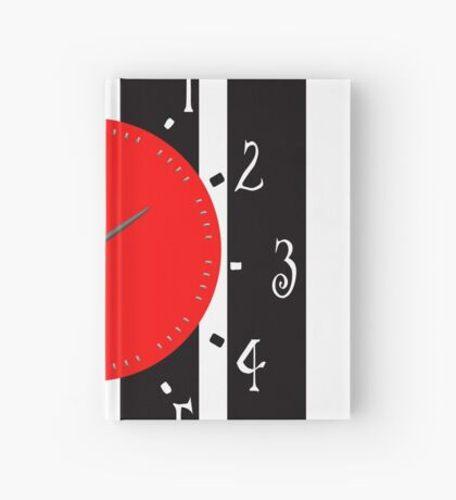 Black and White Clock  Hardcover Journal