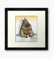 Groundhog Phil's Birthday Party Framed Print