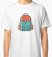 Simple Blue and Red Backpacking Classic T-Shirt