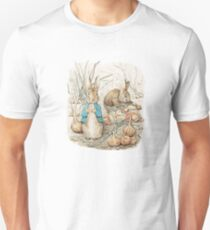Peter Bunny and the onions Unisex T-Shirt