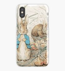 Peter Bunny and the onions iPhone Case/Skin