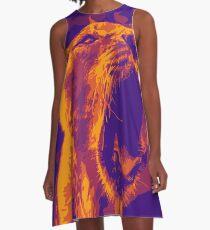 Purple Lion A-Line Dress
