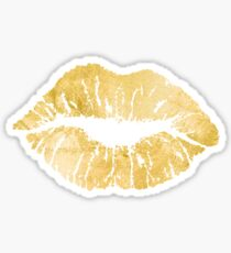 Gold Lips  Sticker