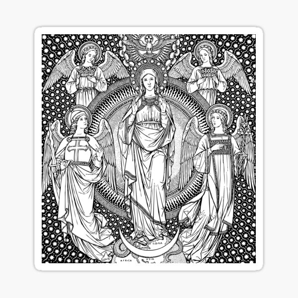 Mary, the Immaculate Conception Sticker