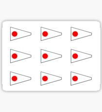 Multiple Number 1 Nautical Pennant Sticker