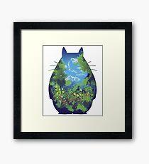 Anime landscape creature Framed Print