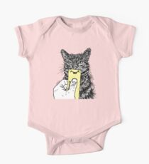 Cat Emoji - Post it with a smile One Piece - Short Sleeve