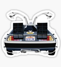 Back to the Future Delorean 'OUTATIME' Sticker