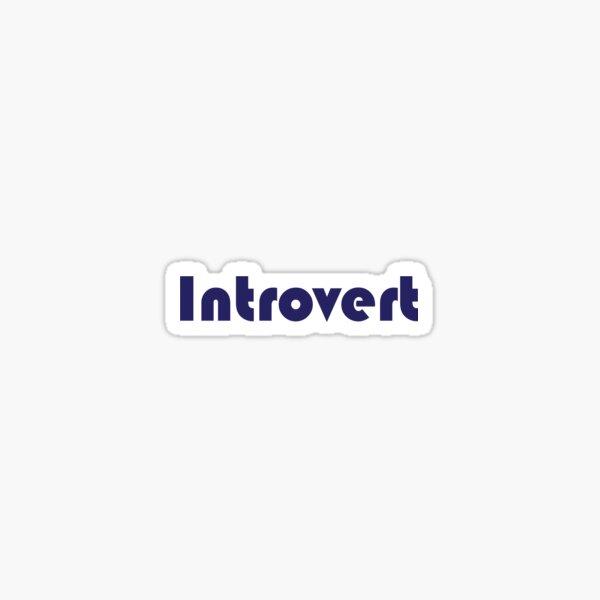 Introvert Sticker