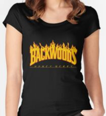 Backwoods Thrasher Hoodie Women's Fitted Scoop T-Shirt