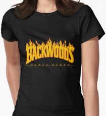 Backwoods Thrasher Hoodie Women's Fitted T-Shirt