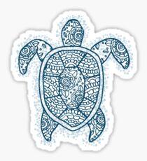 turtle blue iii Sticker