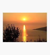 Orange Sunset - Nature Photography Photographic Print