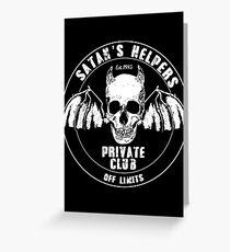 Satan's Helpers - pee wee  Greeting Card