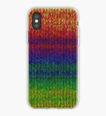 Rainbow Knit Photo iPhone Case