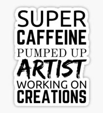Artist Quote Artists on Coffee Greenery Sticker