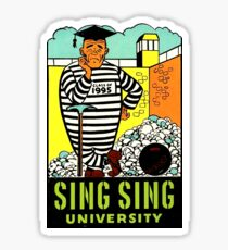 Sing Sing University Vintage Travel Decal Sticker