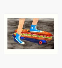 Sandwich Skateboard Art Print