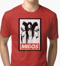 Migos obey design Tri-blend T-Shirt