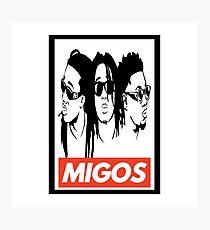 Migos obey design Photographic Print
