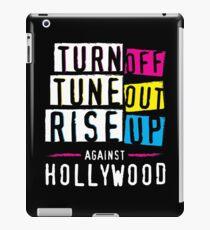 Rise Up Against Hollywood Elitism iPad Case/Skin