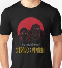 Adventures of FemShep and Vakarian T-Shirt