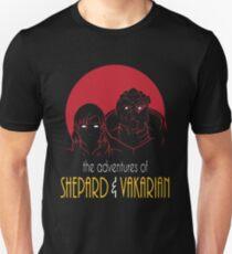 Abenteuer von FemShep und Vakarian Slim Fit T-Shirt