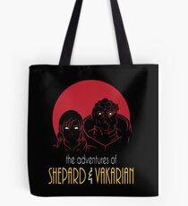 Adventures of FemShep and Vakarian Tote Bag