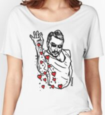 Valentine Hearts Saltbae / Salt Bae Meme Women's Relaxed Fit T-Shirt