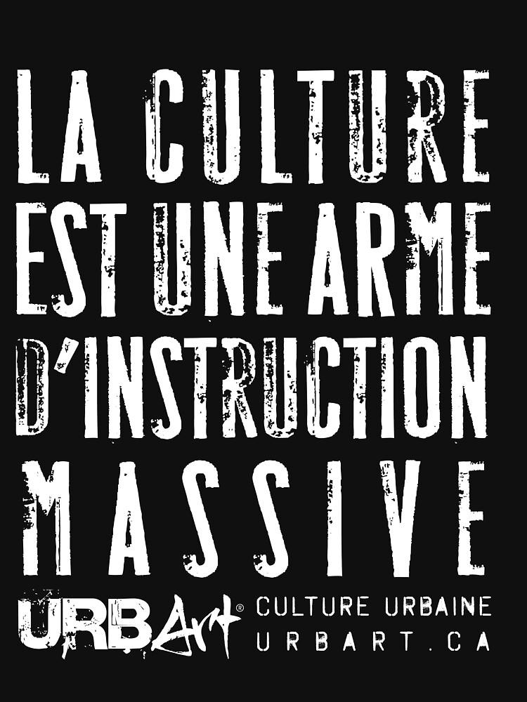 «UrbArt - La culture est une arme d'instruction massive» par UrbArt