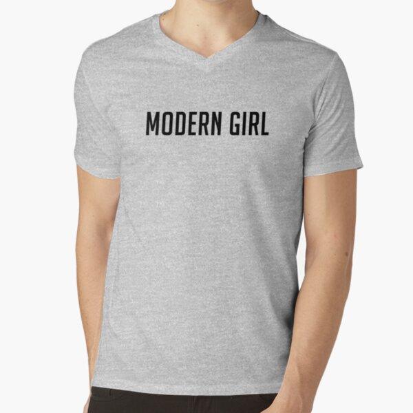 Modern Girl - Black V-Neck T-Shirt