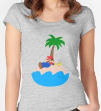Super Mario Sunshine - Relaxation Women's Fitted Scoop T-Shirt