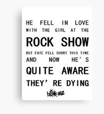 BLINK-182 Mixed Lyrics Canvas Print