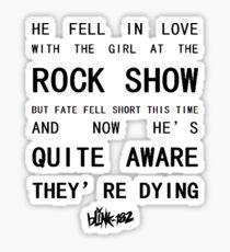 BLINK-182 Mixed Lyrics Sticker