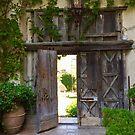 Door at Villa Cimbrone by Christine  Wilson