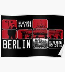 BERLIN WALL 25th Anniversary Poster