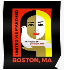 Women's March On Boston Mass 2017 Collectible  Poster