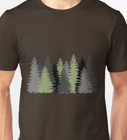 Pine Trees in a Forest Unisex T-Shirt